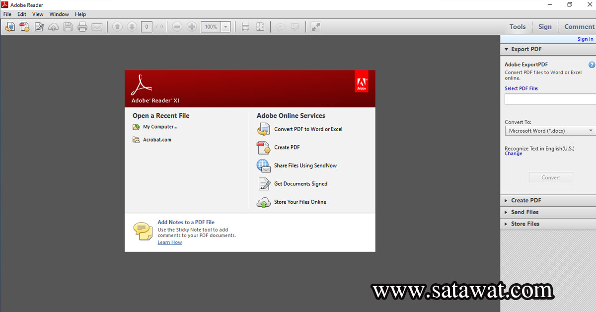 โปรแกรมเปิดไฟล์เอกสาร PDF ที่ดีที่สุด Adobe Reader XI